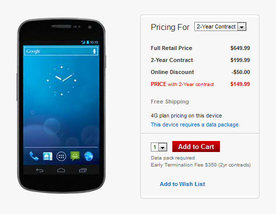 The Samsung GALAXY Nexus is now just $149.99 on contract at Verizon - Verizon offers Samsung GALAXY Nexus online for $149.99