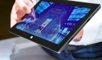 The Microsoft Surface might be using a proprietary connector for data transfer and charging