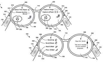 Google patents Project Glass trackpad