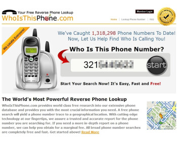 Submit a phone number to WhoIsThisPhone and see who it belongs to