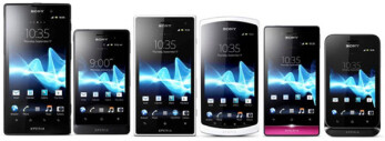 Sony gathers all of its recently announced handsets for a media preview at CommunicAsia 2012