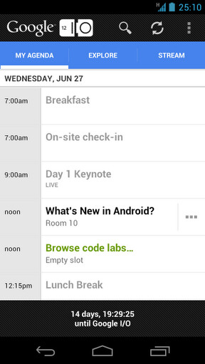 Official Google I/O 2012 companion app hits Android's Play Store