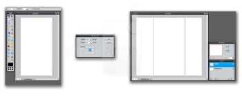Use built-in guides or create your own. Either way your canvas should look similar to these.