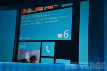 The Windows Phone 8 home screen will be able to contain tiles of various sizes