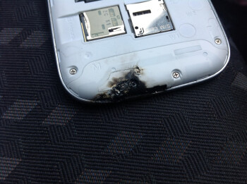 The Samsung Galaxy S III unit after the explosion