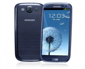 The Pebble Blue version of the Samsung Galaxy S III