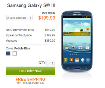AT&T's pre-orders for the Samsung Galaxy S III will arrive on or before June 25th