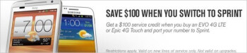 A white HTC EVO 4G LTE shows up in Sprint ad