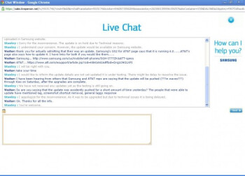 An AT&T Rep says on Live Chat that the Android 4.0 update for the Samsung Galaxy S II is delayed