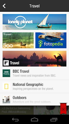 Images from the Android version of Flipboard - Flipboard now officially available for Android, brings new features