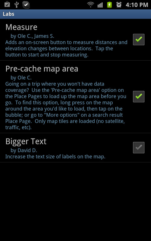 Enable the pre-cache option