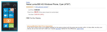 The Nokia Lumia 900 is just 1 cent on contract at Amazon