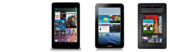 Google Nexus 7 vs Samsung Galaxy Tab 2 (7.0), Amazon Kindle Fire specs comparison
