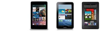 Google Nexus 7 vs Samsung Galaxy Tab 2 (7.0), Amazon Kindle Fire specs comparison