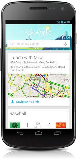 Google Now cards pop up on your screen when and where you need them