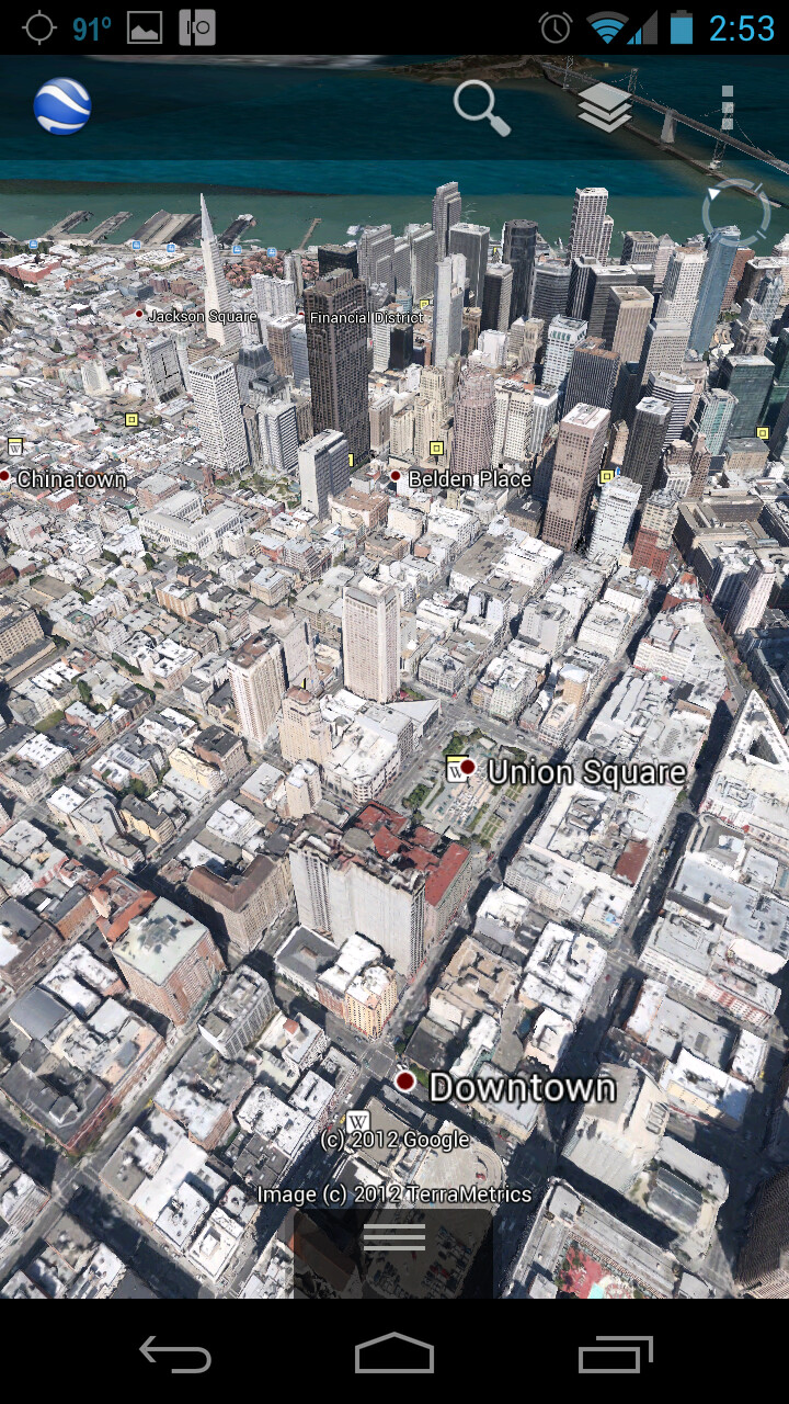 3D Maps For Android Google Earth 7.0 comes to Android, 3D maps in tow   PhoneArena