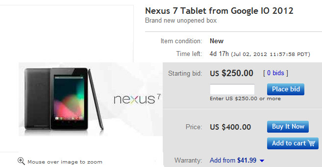 Google Nexus 7 on eBay