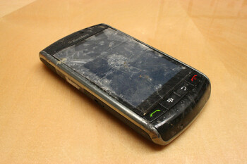 This BlackBerry Storm was run over