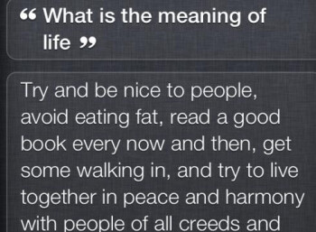 Siri gives a long-winded response to a question