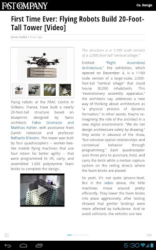 Screenshots from Google Currents