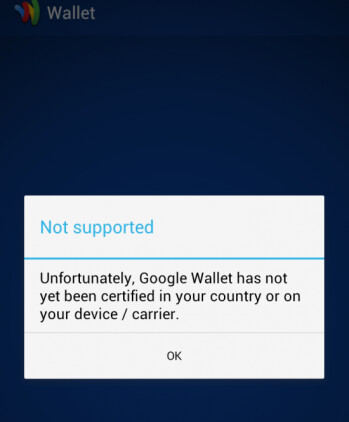 Google Wallet still does not work for owners of the HTC EVO 4G LTE