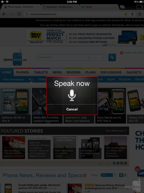 Integrated Google Voice Search