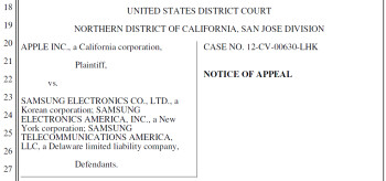 Samsung seeks a stay on the Samsung GALAXY Nexus injunction