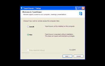 Run TeamViewer on the computer you want to control remotely