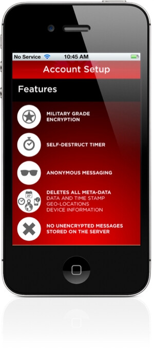 Wickr for iOS can send texts with military grade encryption