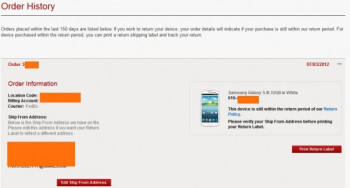 Verizon customers are getting word of the impending arrival of their pre-ordered Samsung Galaxy S III