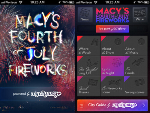 Macy's Fourth of July Fireworks App