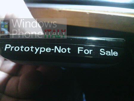 Sony Ericsson Windows Phone prototype