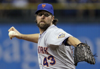 Can you use your mobile device while watching R.A. Dickey pitch live?