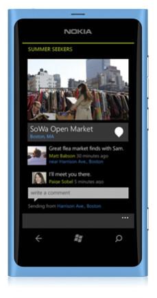 Screenshots from Nokia Pulse
