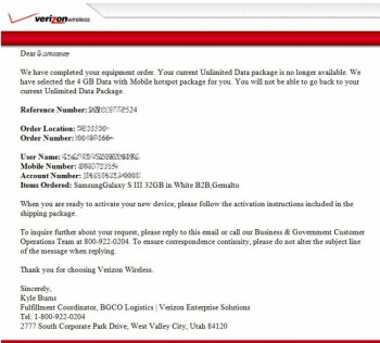 Some Verizon customers incorrectly lost their unlimited data plan and were assigned a tiered data plan instead
