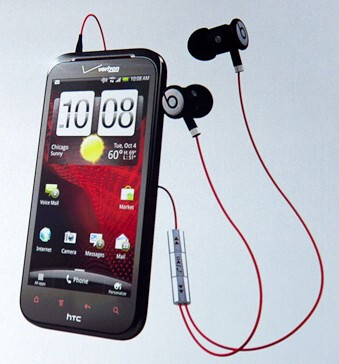 The HTC Rezound and the Beats Audio earphones