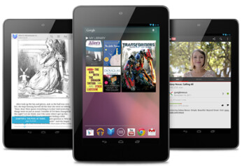 The new, faster shipping date (L) for the Google Nexus 7