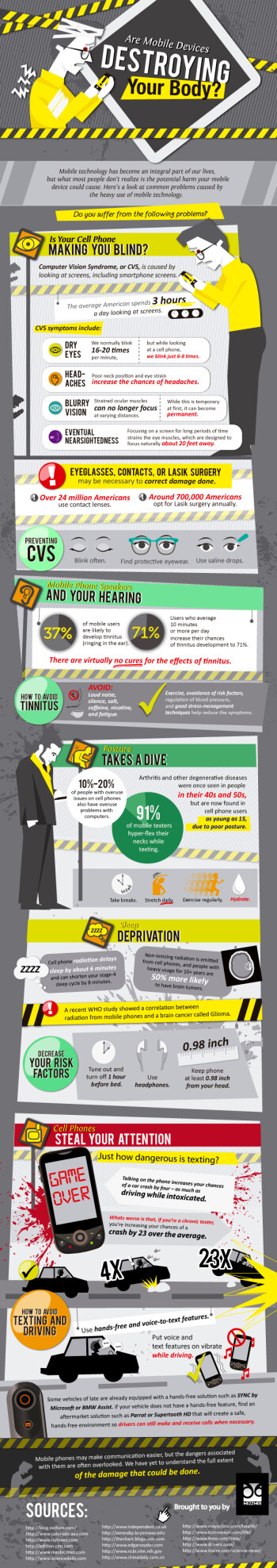 Mobile devices affect your health, what can you do about it (infographic)
