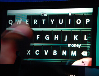 The BlackBerry 10 virtual QWERTY