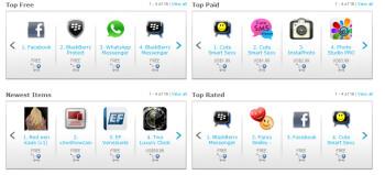 Leading apps in BlackBerry App World
