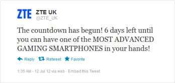 """ZTE will announce """"one of the most advanced gaming smartphones"""" in six days"""