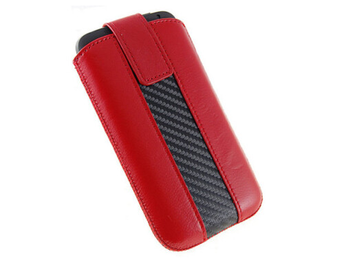 Red leather sleeve case
