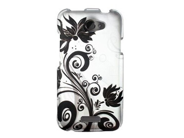 Black Swirly Flowers Case