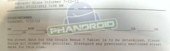 Internal Gamestop memo keeps the Google Nexus 7 on the shelves