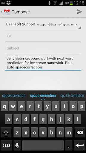 Android 4.1 Jelly Bean keyboard ported to Ice Cream Sandwich