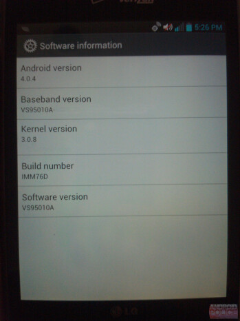 The LG Optimus Vu for Verizon will get Ice Cream Sandwich prior to launch