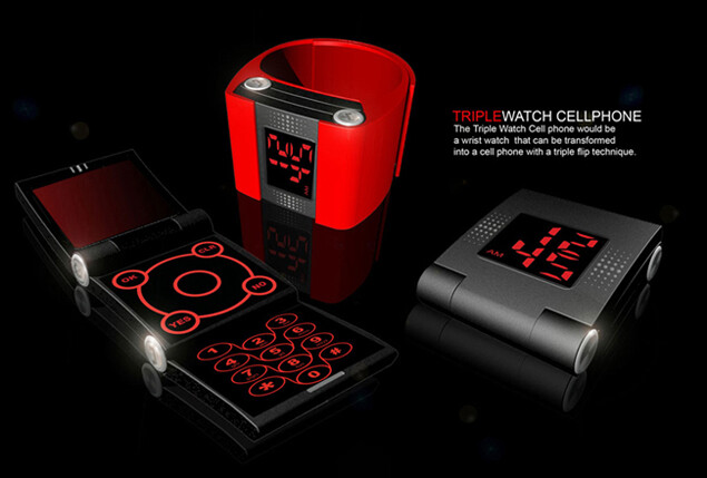 Prototype of wrist watch and cellphone in one