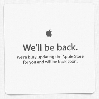 The Apple Store is temporarily down