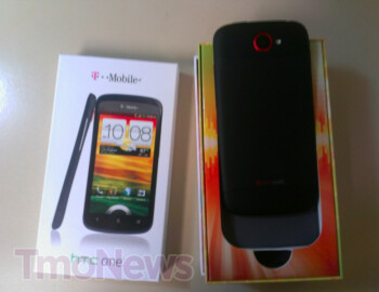 The HTC One S in black is handed out to the carrier's store representatives