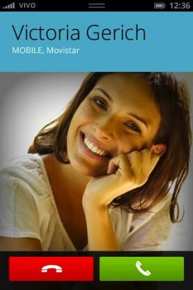 In-call screen